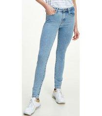 tommy hilfiger women's jegging fit medium wash jean light blue - 26/32