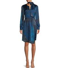 elie tahari women's alara leopard-print patchwork dress - size 6