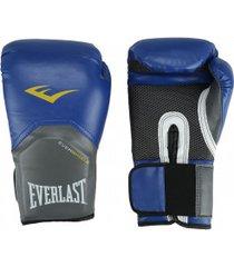luvas de boxe everlast pró style training - 12 oz - adulto - azul