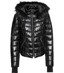 giacca con cappuccio (nero) - rainbow