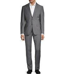 extra slim-fit sharkskin stretch suit