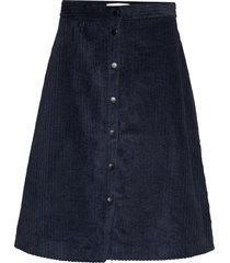 corduroy skirt knälång kjol blå just female