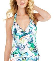 la blanca in the moment goddess tummy-control tankini top women's swimsuit