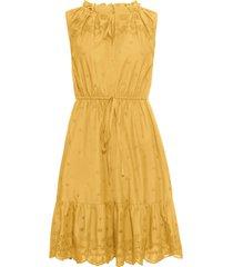 abito con ricamo traforato (giallo) - bodyflirt