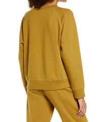 women's richer poorer raglan sweatshirt, size large - yellow