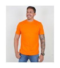 camiseta basica manga curta masculina lucas lunny lisa laranja...