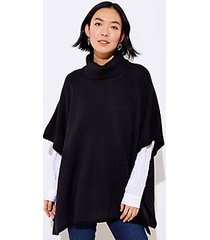 loft turtleneck button poncho