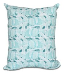 fishwich 16 inch teal decorative coastal throw pillow