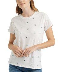 lucky brand cotton clover-print t-shirt
