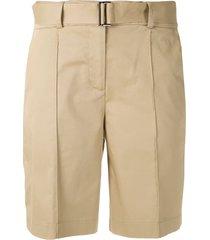 alcaçuz moonlight tailored bermuda shorts - neutrals