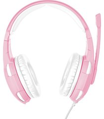 audifono diadema gamer trust gxt 310p radius 3.5 mm rosado