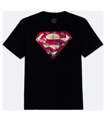 camiseta masculina com estampa super homem | dc comics | preto | m