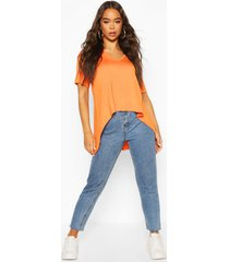 hi low hem t-shirt, orange