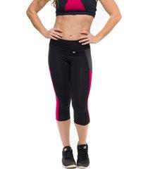 calça corsário sandy fitness dynamic rouge preto