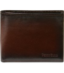 perry ellis portfolio men's leather michigan slim ombre bifold wallet