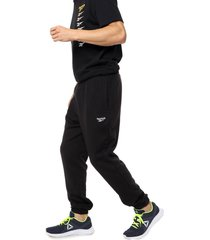 pantalón negro reebok classic cl ft jogger
