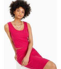 bar iii ribbed-knit sleeveless top, created for macy's