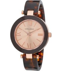 laura ashley women's resin spring brown bangle alloy watch 32mm