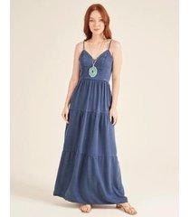 vestido zinzane tinturado camadas feminino - feminino
