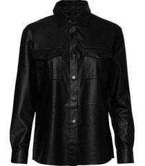 shirt w buttons långärmad skjorta svart depeche