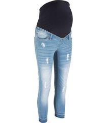 jeans cropped prémaman skinny (blu) - bpc bonprix collection