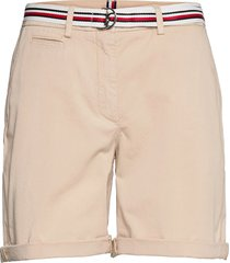cotton tencel chino rw short shorts chino shorts beige tommy hilfiger