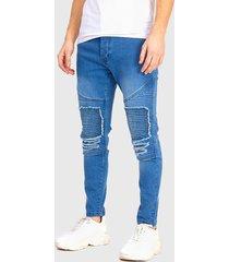 jeans brave soul regular lenght azul - calce skinny