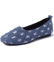 fodera in canvas slip on pigro mocassini da donna casual
