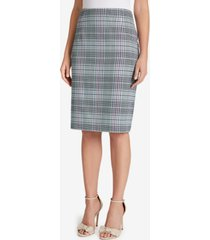 tahari asl plaid pencil skirt
