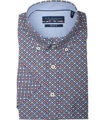bos bright blue korte mouw blouse 106670/334