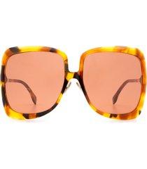 fendi fendi ff 0429/s brown havana sunglasses