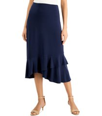 jm collection petite ruffled-hem skirt, created for macy's
