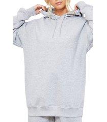women's 4th & reckless irina hooded sweatshirt, size xx-small - grey