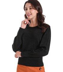 sweater con brillos negro nicopoly