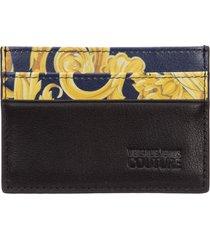 porta carte di credito portafoglio uomo pelle logo baroque
