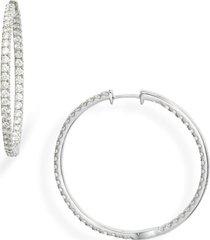 women's bony levy audrey luxe inside out hoop earrings (nordstrom exclusive)