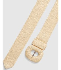 lane bryant women's faux-straw stretch belt 26/28 natural