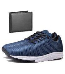 tênis sapatênis urbano com carteira masculino dubuy 1108db azul