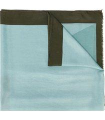 altea lenço bicolor de seda - azul
