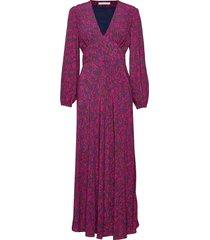 cindy l dress aop 10056 maxi dress galajurk roze samsøe samsøe