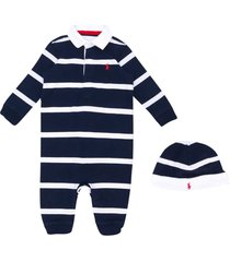 ralph lauren blue striped romper