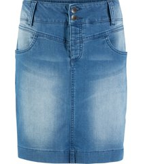 gonna di jeans sostenibile in poliestere riciclato (blu) - bpc bonprix collection