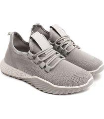 tenis grises cordones cruzados color gris, talla 40