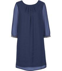 abito in chiffon (blu) - bodyflirt