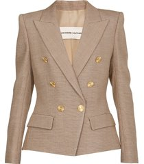 alexandre vauthier viscose double breasted jacket
