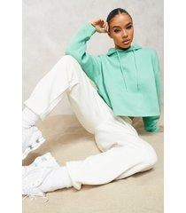 oversized korte hoodie, green