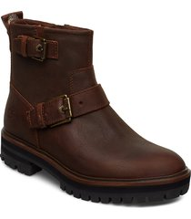 london square biker shoes boots ankle boots ankle boots flat heel brun timberland