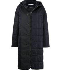 12 storeez hooded padded coat - black