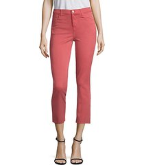 ruby high-rise crop twill skinny jeans
