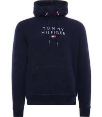 tommy hilfiger essential organic cotton terry hoodie | desert sky | 17397-dw5
